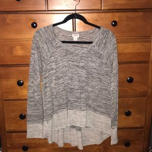 High-Low Gray Sweater